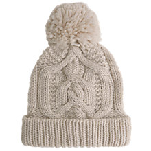 Buy Mint Velvet Chunky Cable Knit Hat, Neutral Online at johnlewis.com