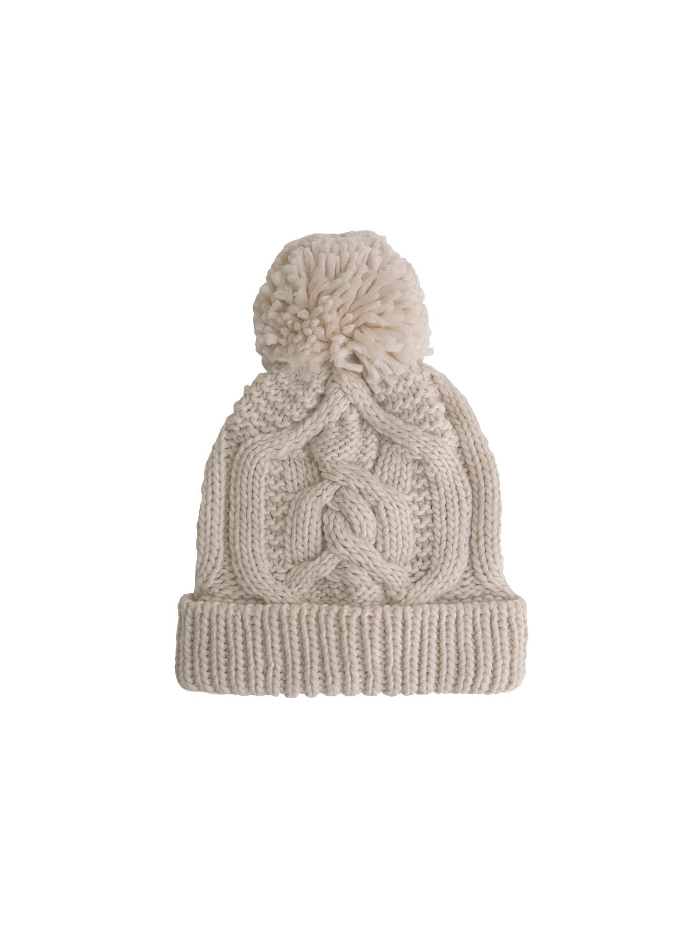 f7eb14f4b48 Buy Mint Velvet Chunky Cable Knit Hat