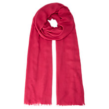 Buy Jigsaw Southwold Plain Scarf, Fuchsia Online at johnlewis.com