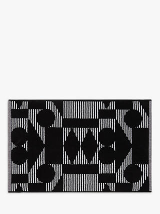 Buy PATTERNITY + John Lewis Reflect Organic Cotton Bath Mat, Black/White Online at johnlewis.com