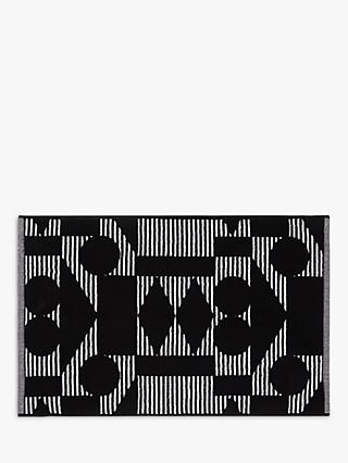 Patternity john lewis reflect organic cotton bath mat black white