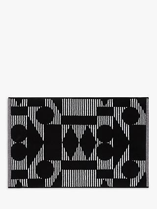 Patternity john lewis reflect organic cotton bath mat black white