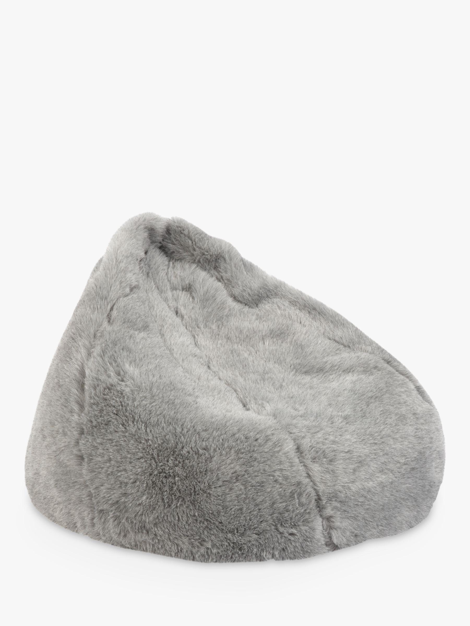 Awesome John Lewis Partners Faux Fur Bean Bag Grey Evergreenethics Interior Chair Design Evergreenethicsorg