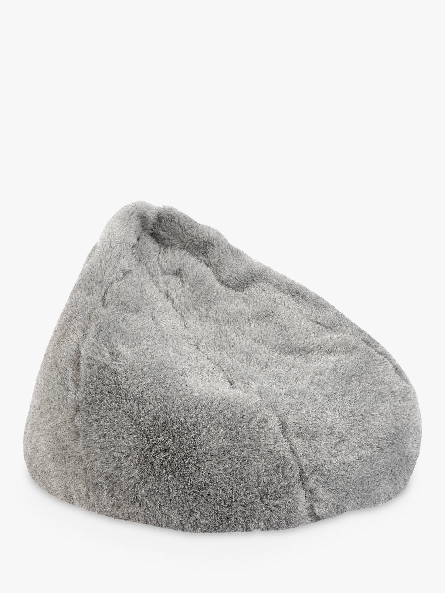 John Lewis Partners Faux Fur Bean Bag Grey Online At Johnlewis