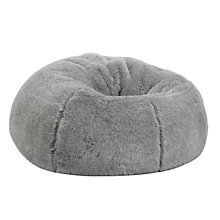Buy John Lewis Faux Fur Extra Large Bean Bag Online at johnlewis.com