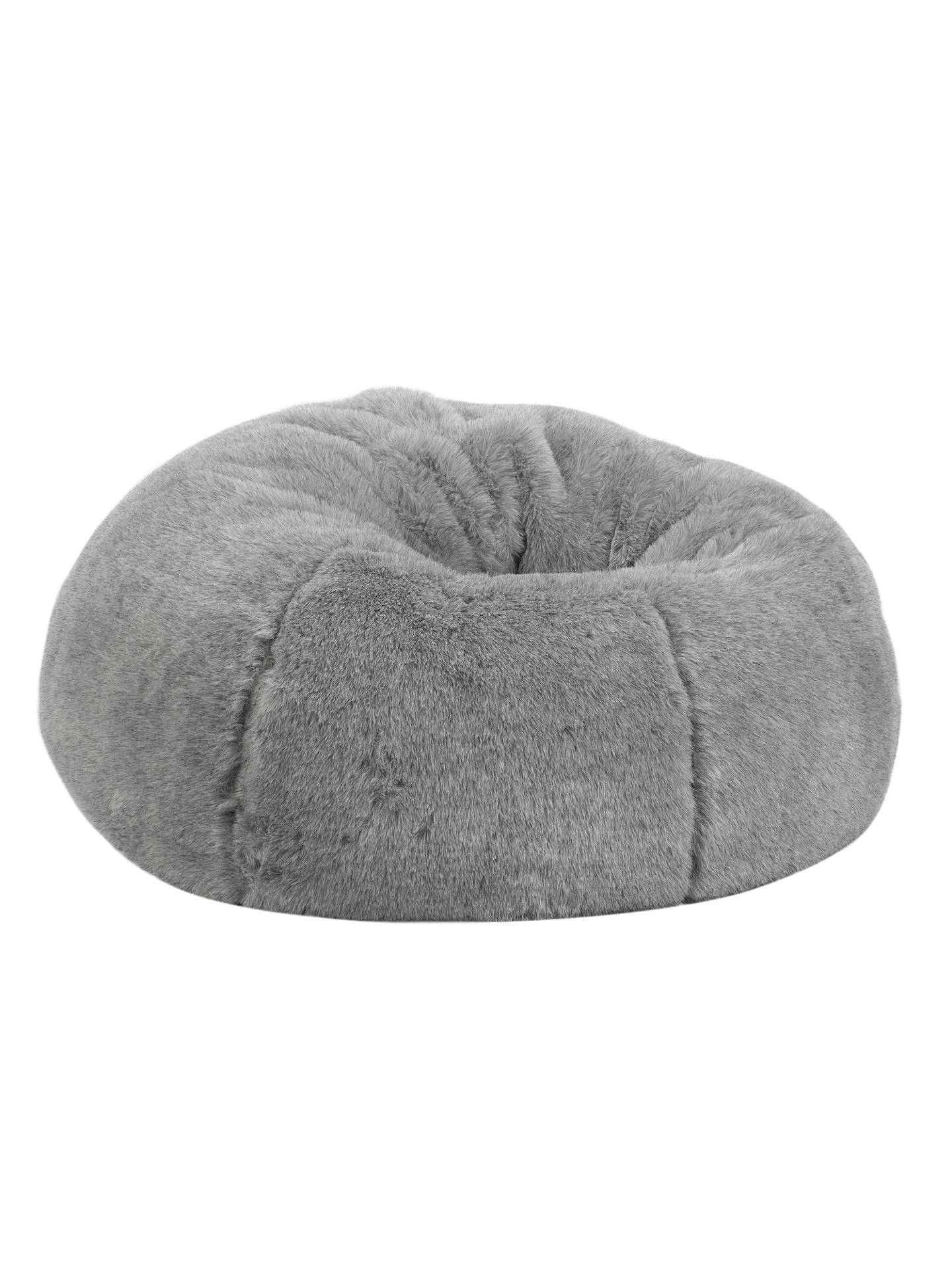 Marvelous John Lewis Partners Faux Fur Extra Large Bean Bag Grey Evergreenethics Interior Chair Design Evergreenethicsorg