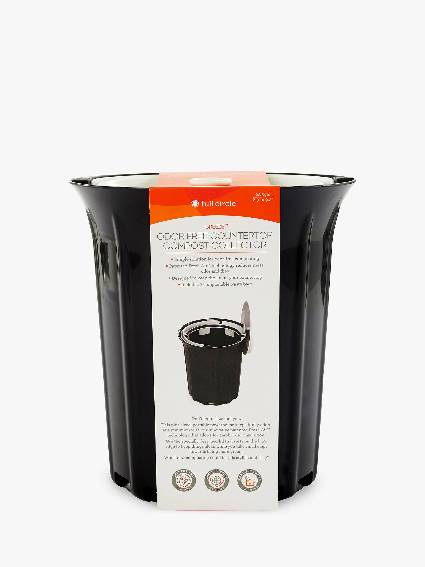 Groovy Full Circle Odour Free Counter Top Compost Food Waste Caddy 4L Download Free Architecture Designs Parabritishbridgeorg