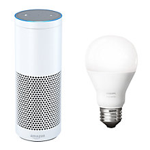Buy Amazon Echo Plus Smart Speaker with Built-in Smart Home Hub with Alexa Voice Recognition & Control, White + Philips Hue White 9.5W A60 Smart Bulb, E27 Fitting Online at johnlewis.com
