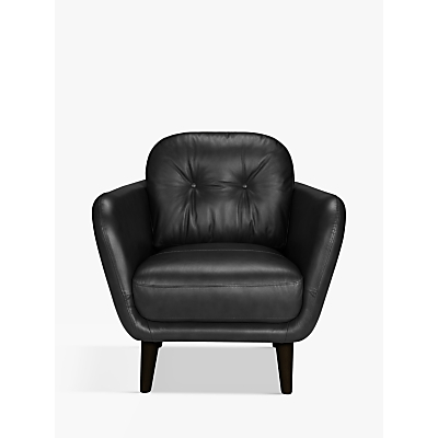 House by John Lewis Arlo Leather Armchair, Light Leg