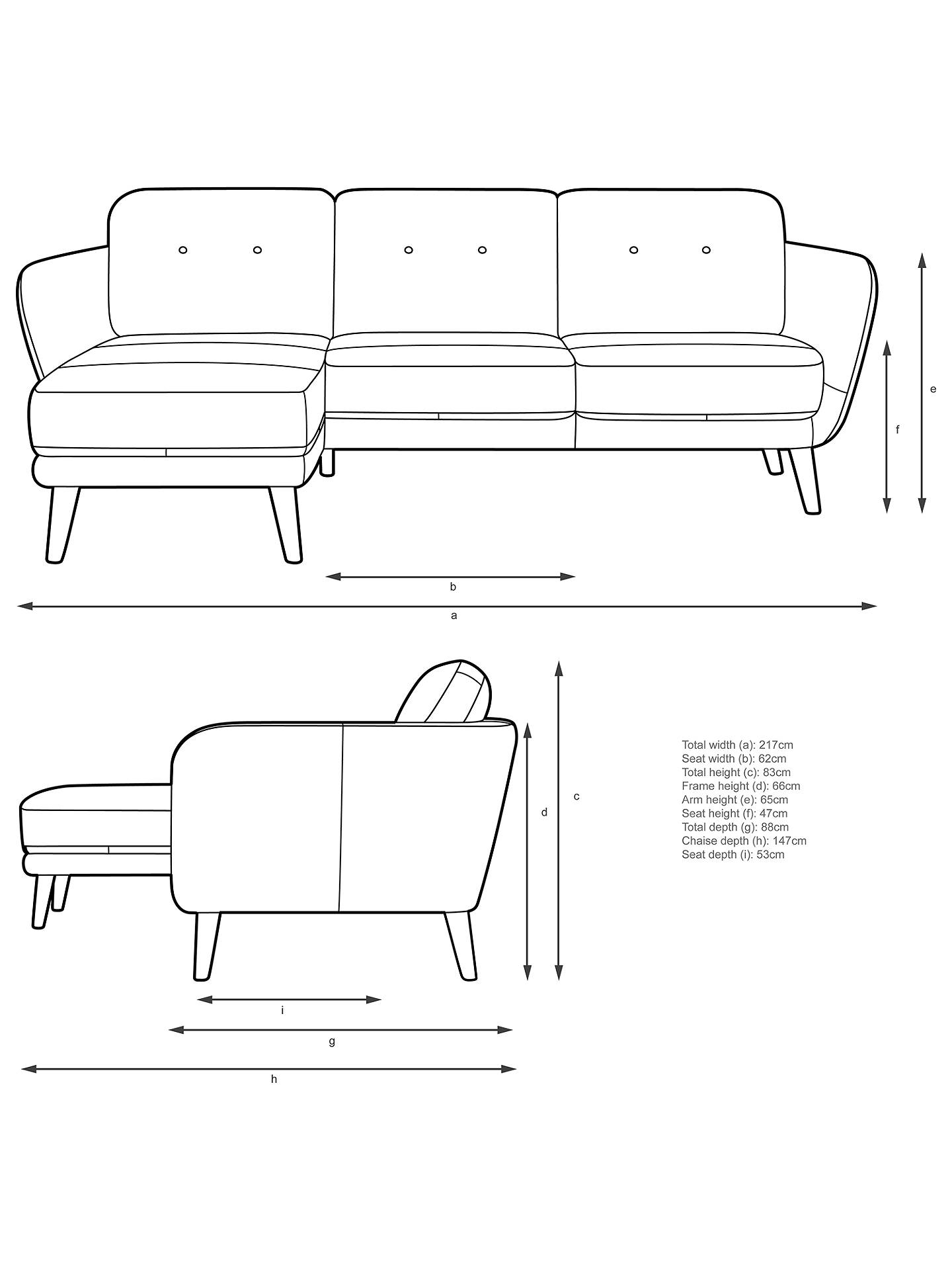 Buy House by John Lewis Arlo LHF Chaise End Leather Sofa, Dark Leg, Luster Cappuccino Online at johnlewis.com
