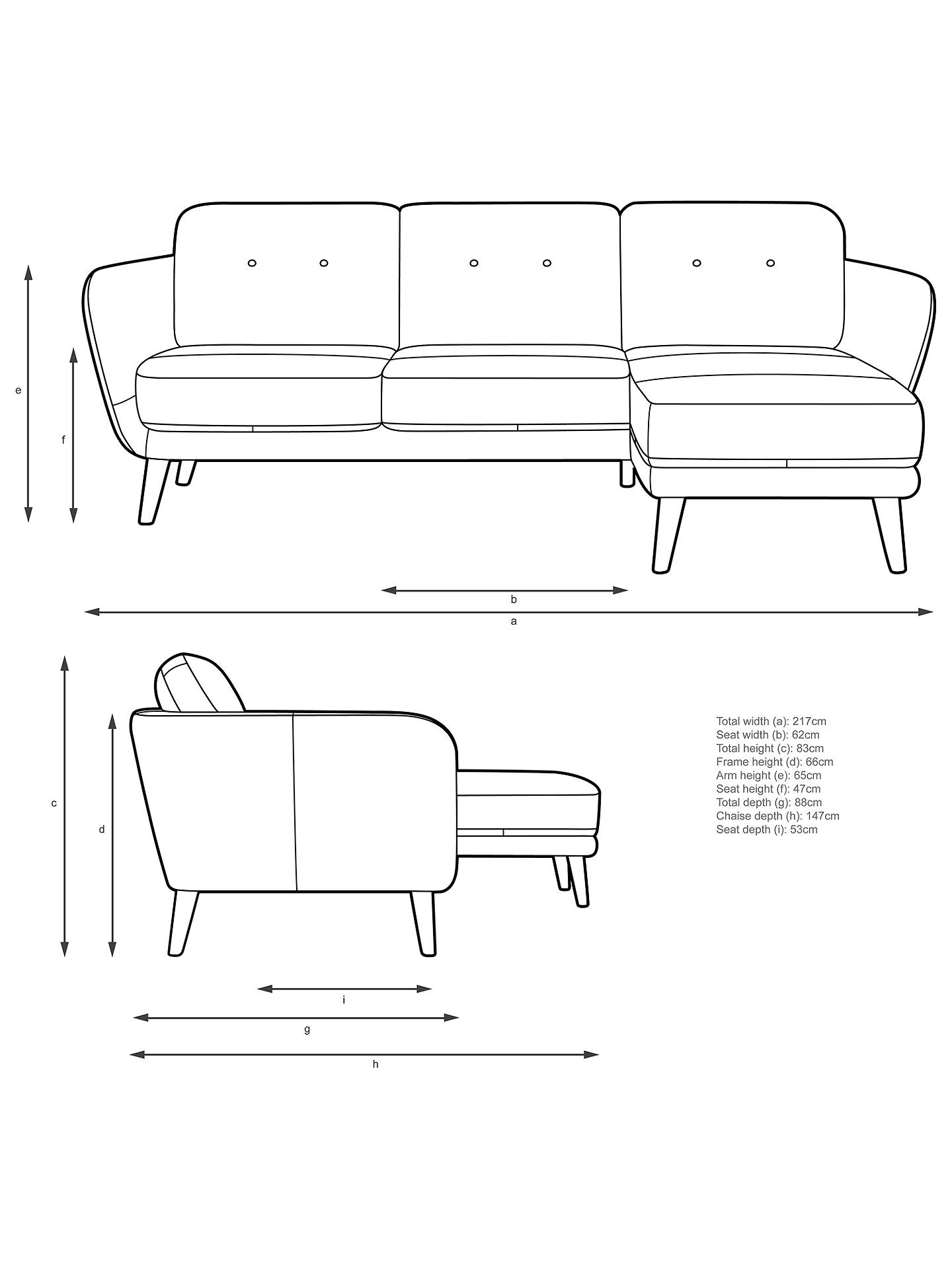Buy House by John Lewis Arlo RHF Chaise End Leather Sofa, Light Leg, Luster Cappuccino Online at johnlewis.com