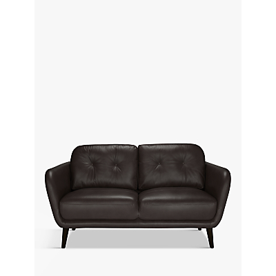 House by John Lewis Arlo Small 2 Seater Leather Sofa, Light Leg