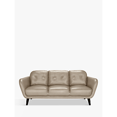 House by John Lewis Arlo Large 3 Seater Leather Sofa, Light Leg