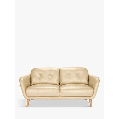 House by John Lewis Arlo Medium 2 Seater Leather Sofa, Light Leg