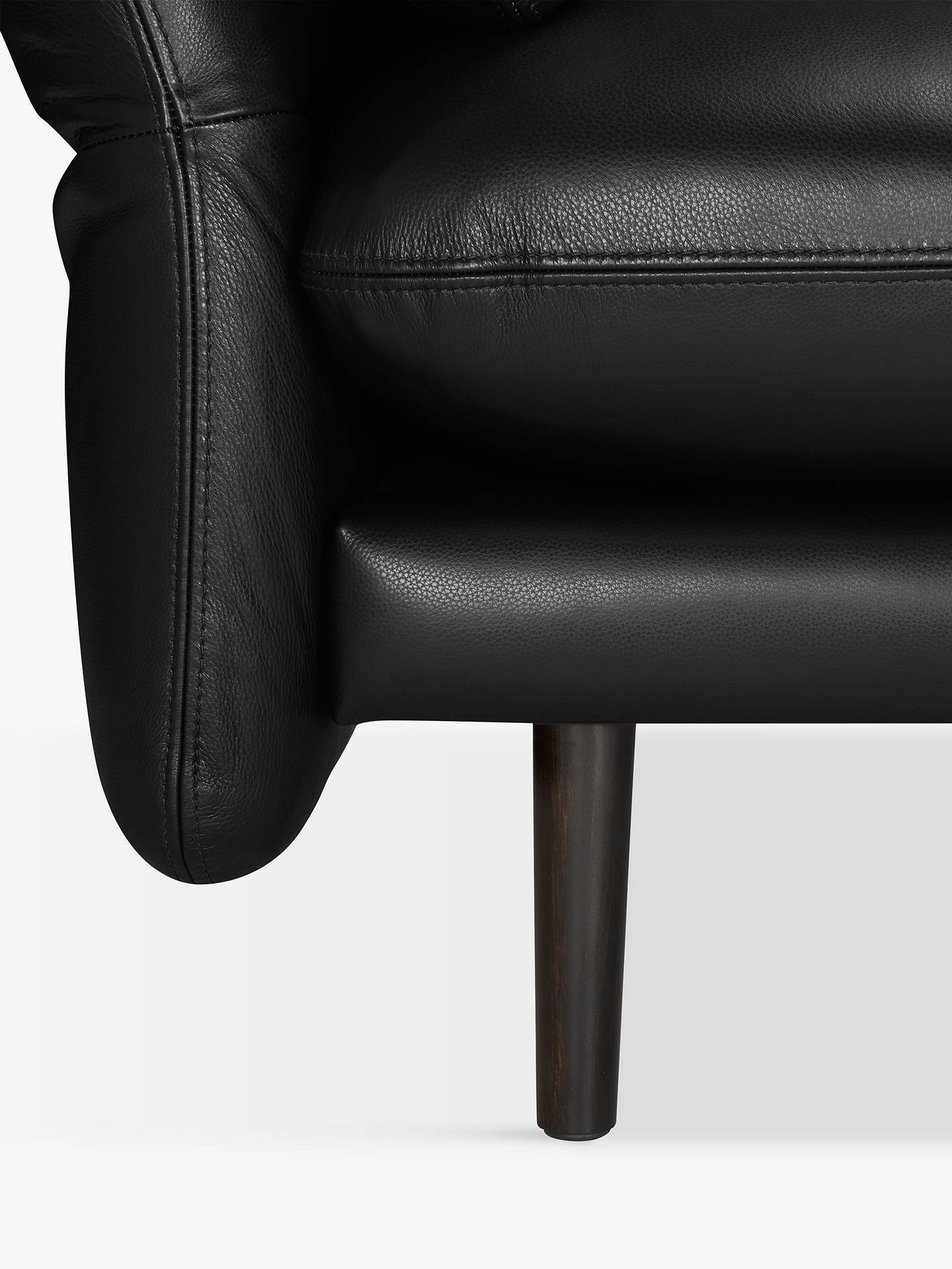 BuyDesign Project by John Lewis No.142 Leather Medium 2 Seater Sofa, Dark Leg, Contempo Black Online at johnlewis.com