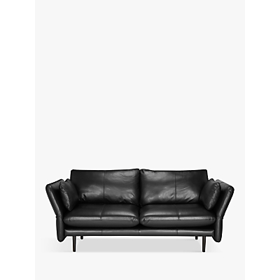 Design Project by John Lewis No.142 Leather Medium 2 Seater Sofa, Dark Leg