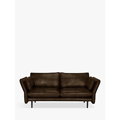 Design Project by John Lewis No.142 Leather Medium 2 Seater Sofa, Dark Leg