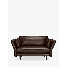 Buy Design Project by John Lewis No.142 Leather Snuggler, Dark Leg Online at johnlewis.com