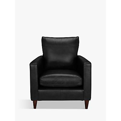 John Lewis Bailey Leather Armchair, Dark Leg