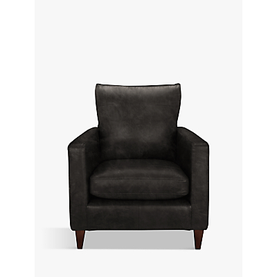 John Lewis Bailey Leather Armchair, Dark Leg