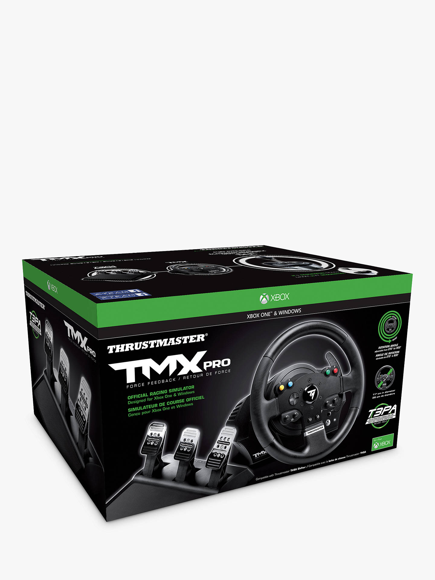 Thrustmaster TMX Pro, Force Feedback Gaming Wheel for PC and Xbox One, Black