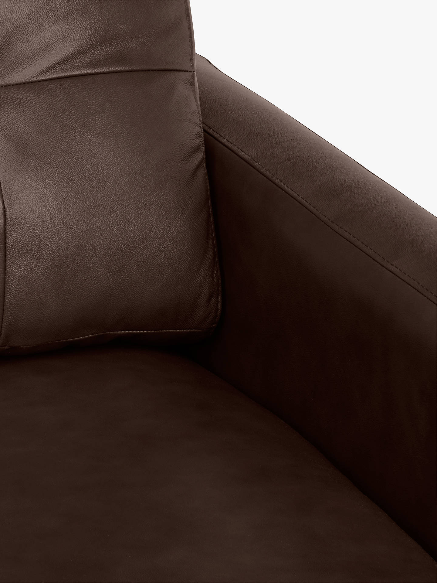 Buy John Lewis & Partners Barbican Leather RHF Grand Corner Chaise End Sofa, Dark Leg, Contempo Dark Chocolate Online at johnlewis.com