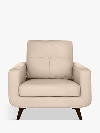 John Lewis & Partners Barbican Leather Armchair, Dark Leg