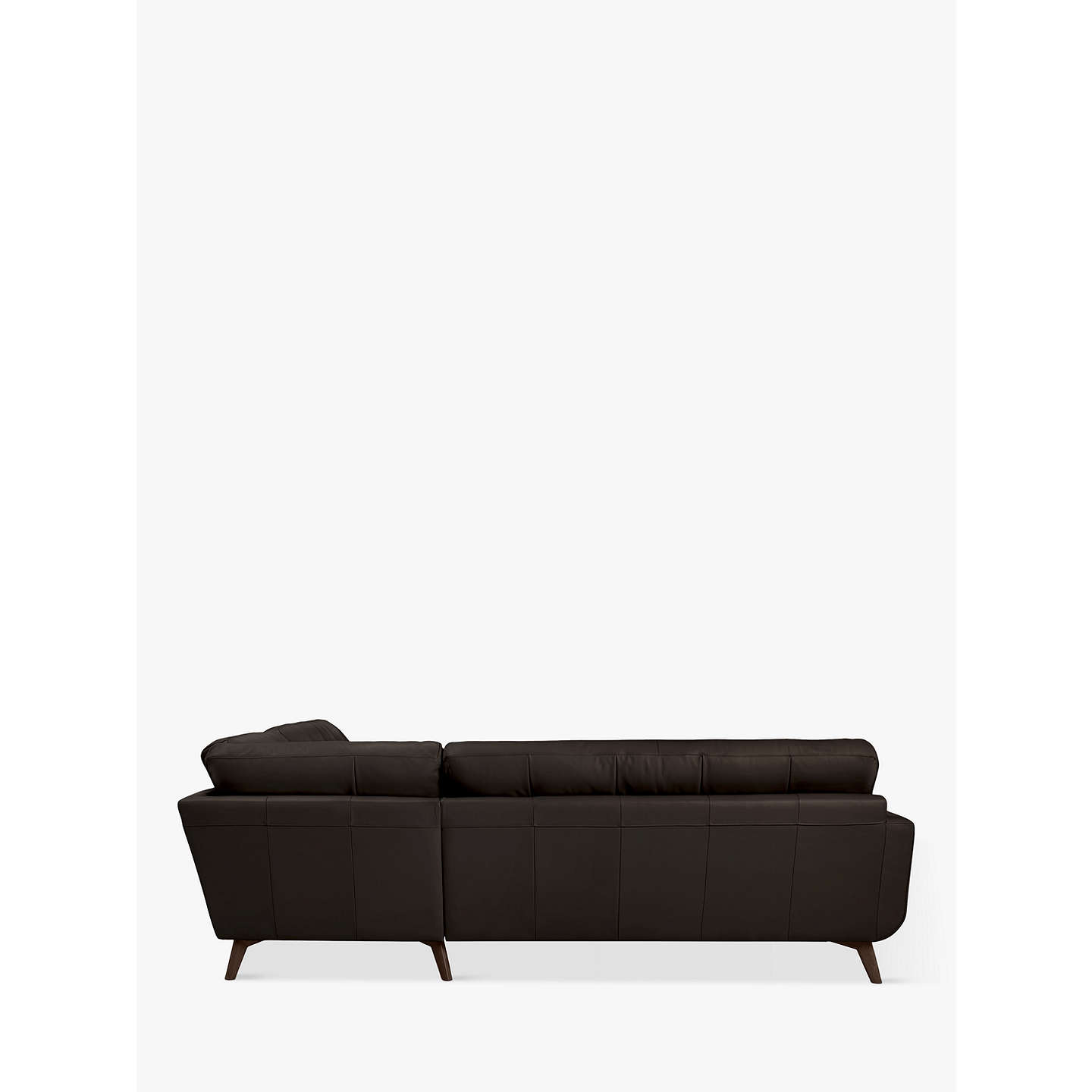BuyJohn Lewis Barbican Leather RHF Corner End Sofa, Dark Leg, Contempo Dark Chocolate Online at johnlewis.com
