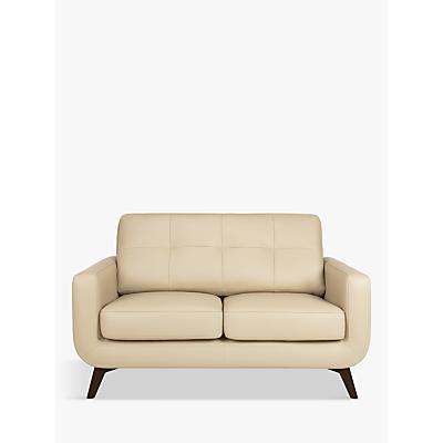 John Lewis & Partners Barbican Leather Small 2 Seater Sofa, Dark Leg