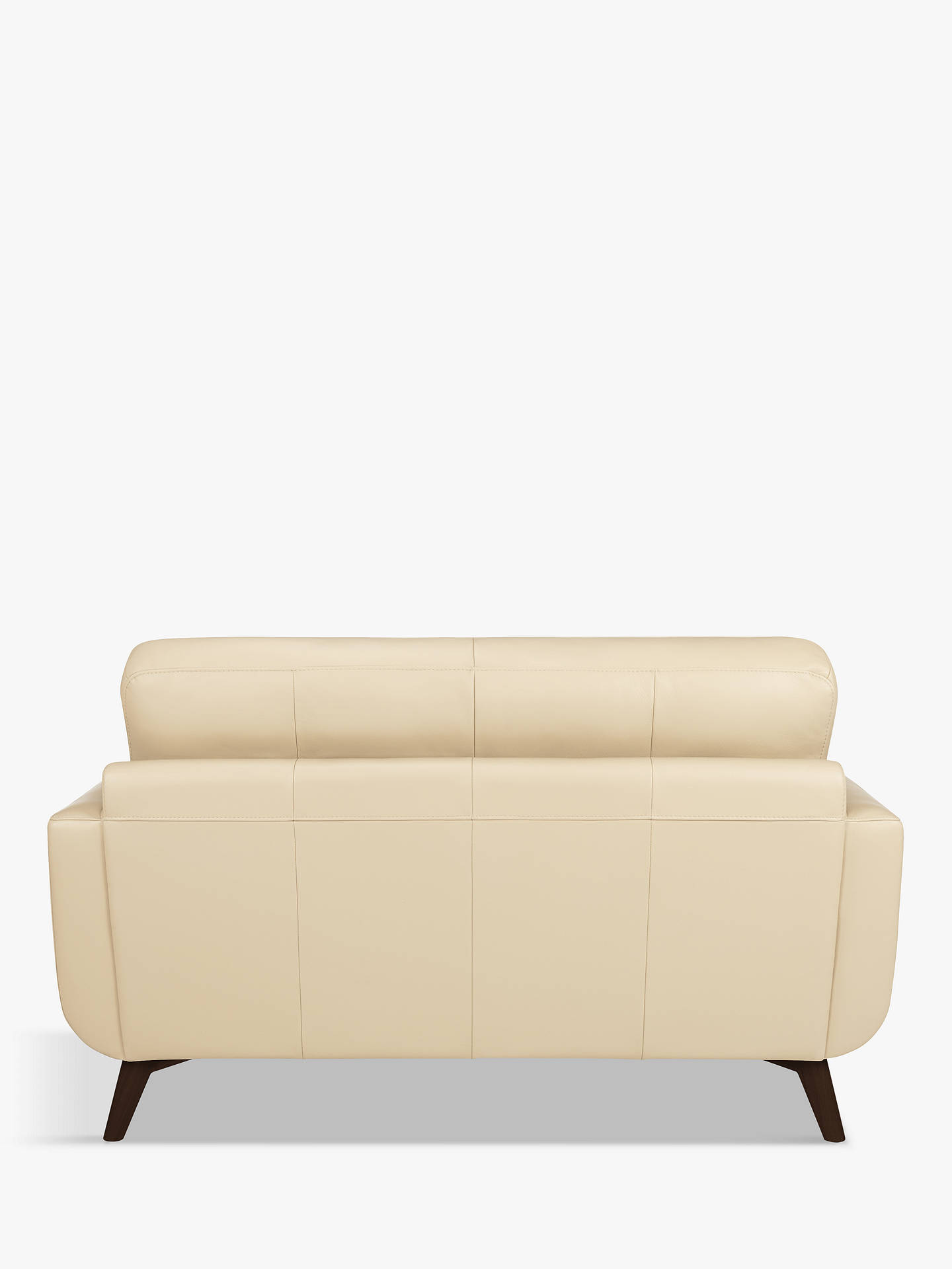 Buy John Lewis & Partners Barbican Small 2 Seater Leather Sofa, Dark Leg, Contempo Ivory Online at johnlewis.com