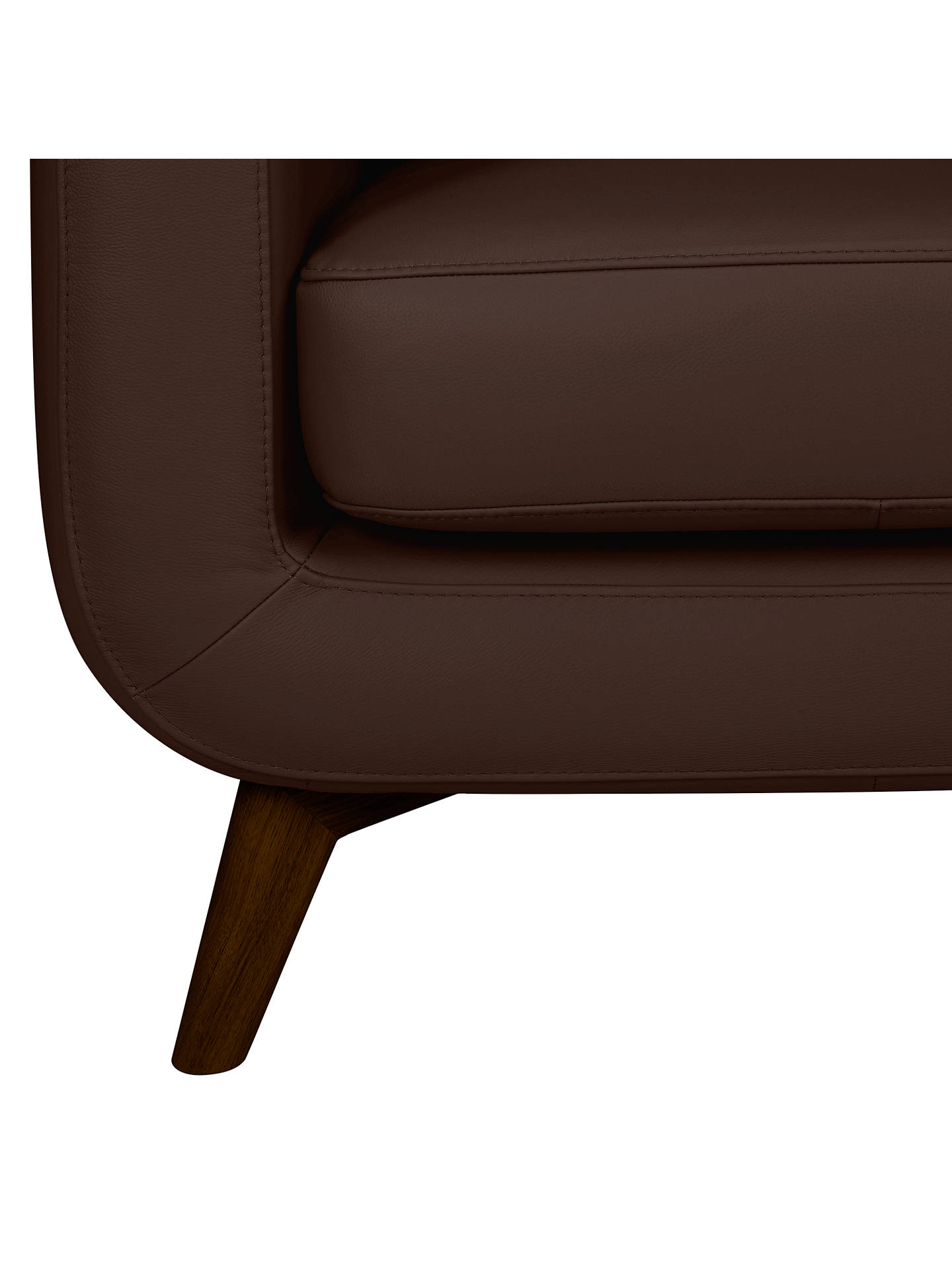 Buy John Lewis & Partners Barbican Medium 2 Seater Leather Sofa, Dark Leg, Nature Brown Online at johnlewis.com