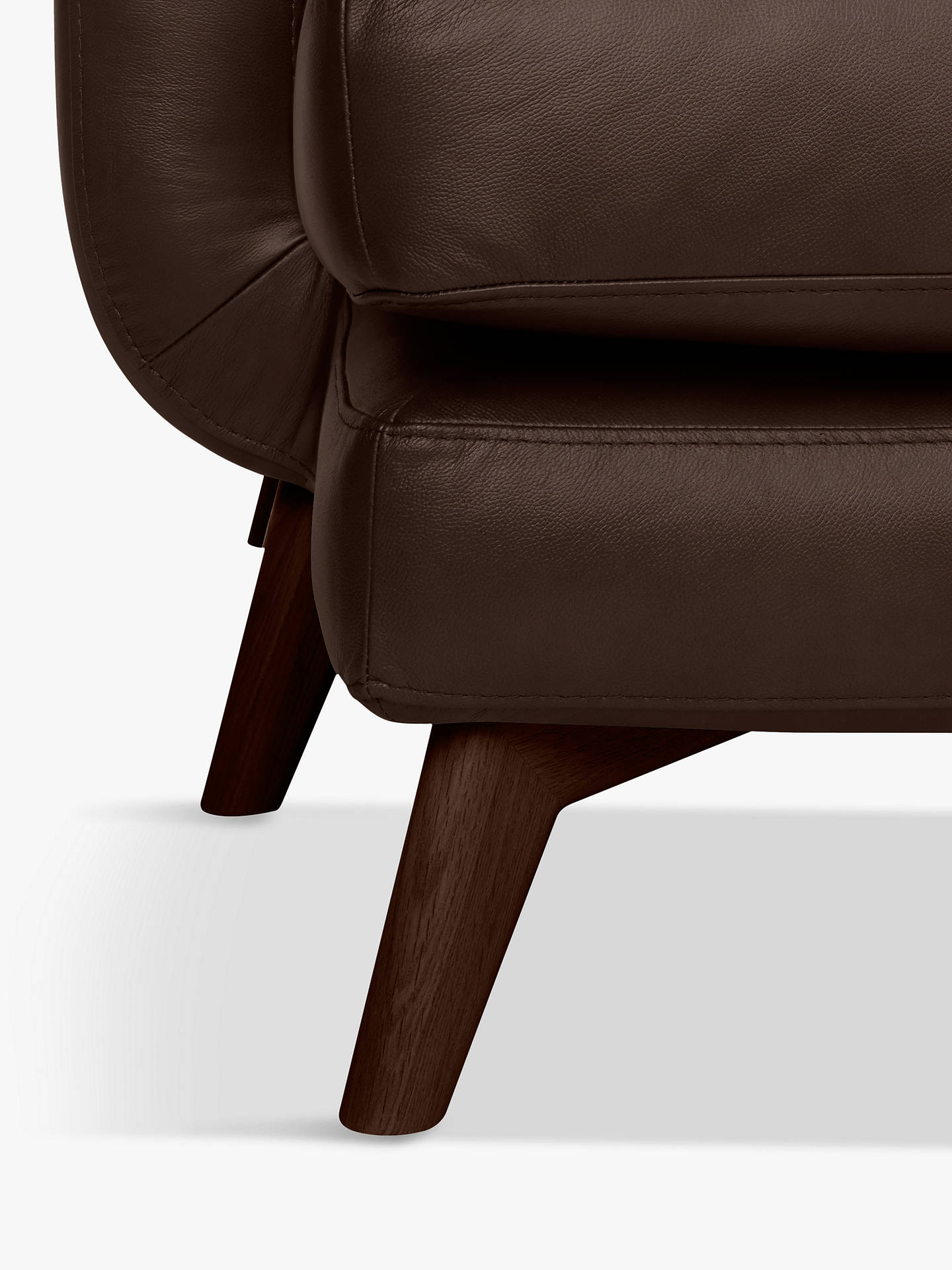 Buy John Lewis & Partners Barbican Leather LHF Grand Corner Chaise End Sofa, Dark Leg, Contempo Dark Chocolate Online at johnlewis.com