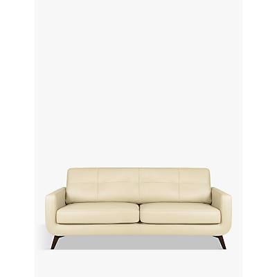 John Lewis & Partners Barbican Leather Large 3 Seater Sofa, Dark Leg