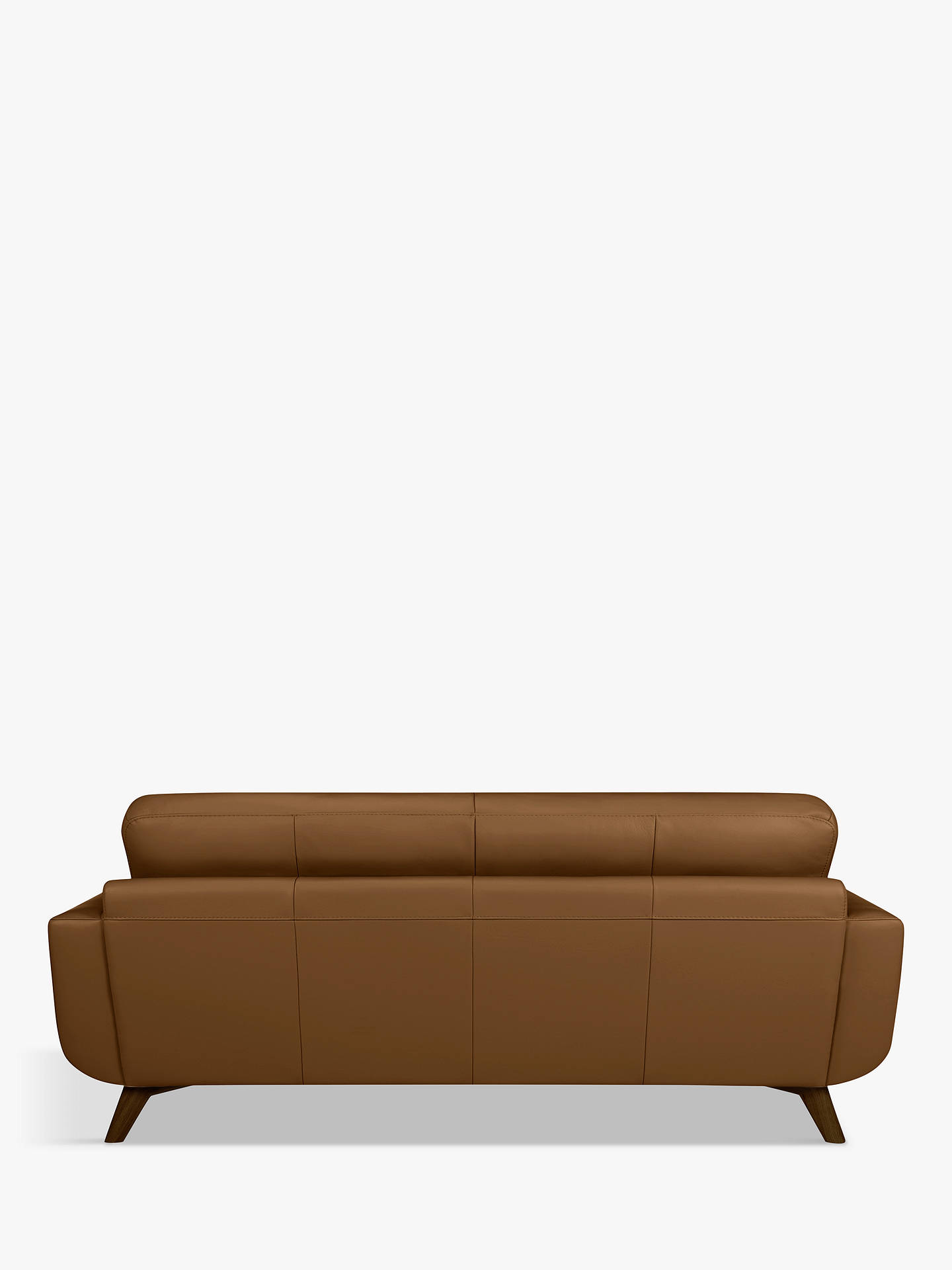 Buy John Lewis & Partners Barbican Grand 4 Seater Leather Sofa, Dark Leg, Demetra Light Tan Online at johnlewis.com