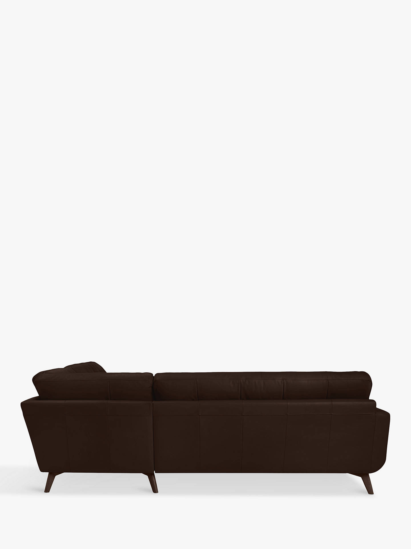 Buy John Lewis & Partners Barbican Leather Corner Sofa, Dark Leg, Nature Brown Online at johnlewis.com