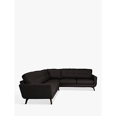 John Lewis & Partners Barbican Leather Corner Sofa, Dark Leg
