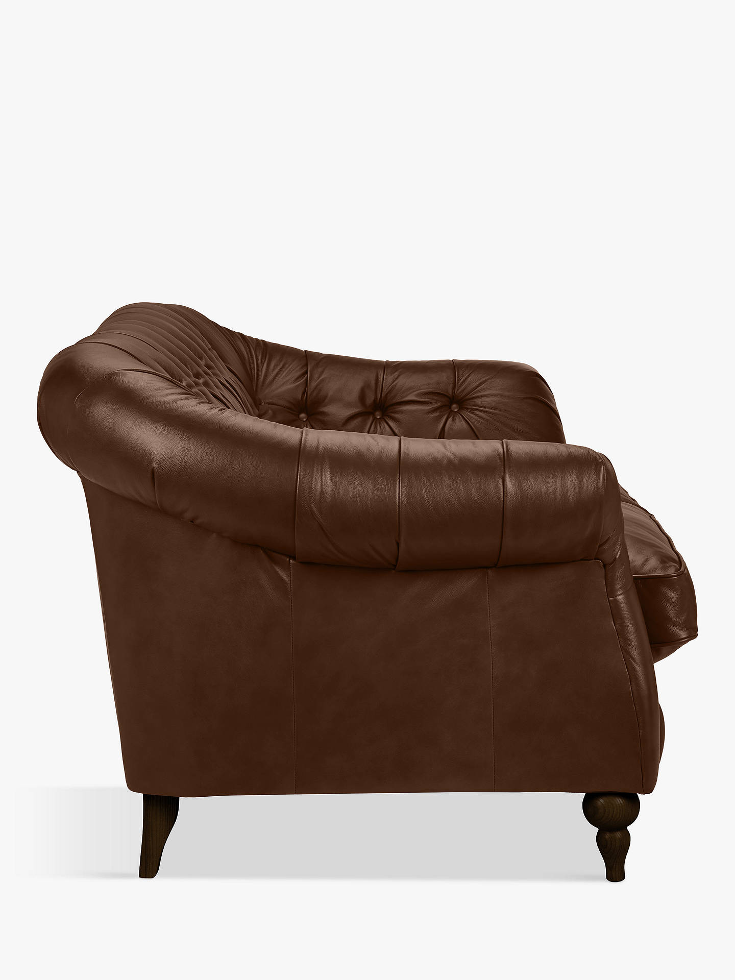 Pleasing John Lewis Partners Brompton Leather Medium 2 Seater Sofa Ncnpc Chair Design For Home Ncnpcorg