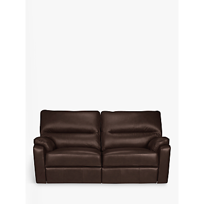 John Lewis Carlisle Leather Manual Recliner Medium 2 Seater Sofa