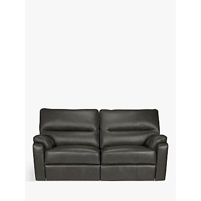 John Lewis Carlisle Leather Manual Recliner Medium 2 Seater Sofa