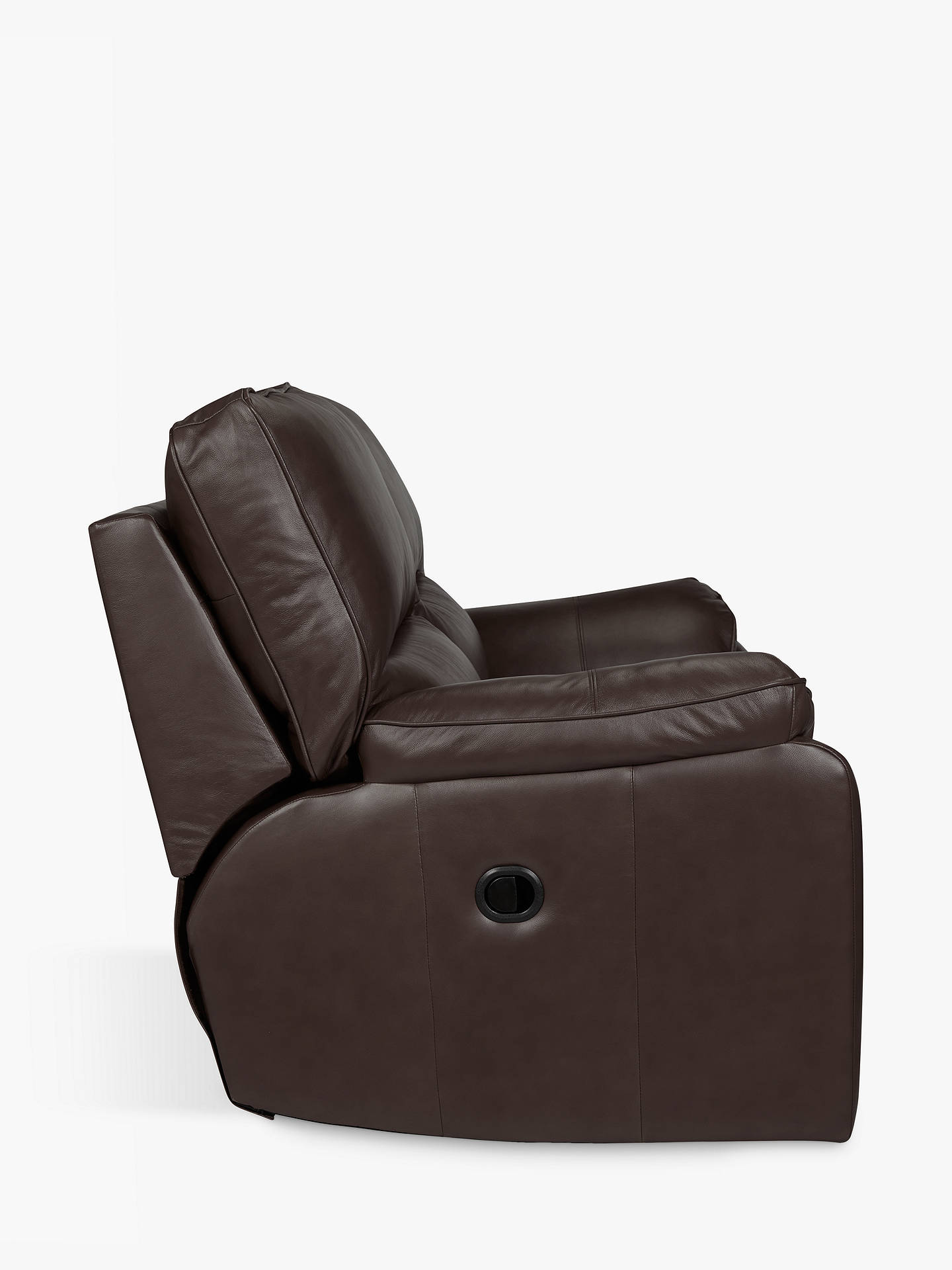 BuyJohn Lewis & Partners Carlisle Leather Power Recliner Medium 2 Seater Sofa, Demetra Charcoal Online at johnlewis.com
