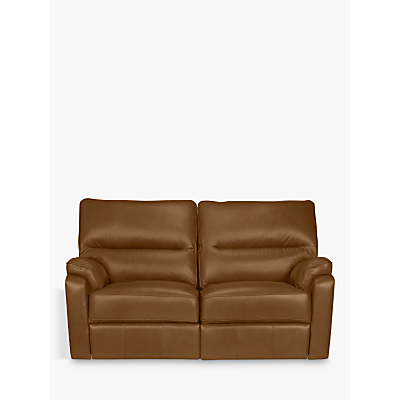 John Lewis Carlisle Leather Manual Recliner Small 2 Seater Sofa
