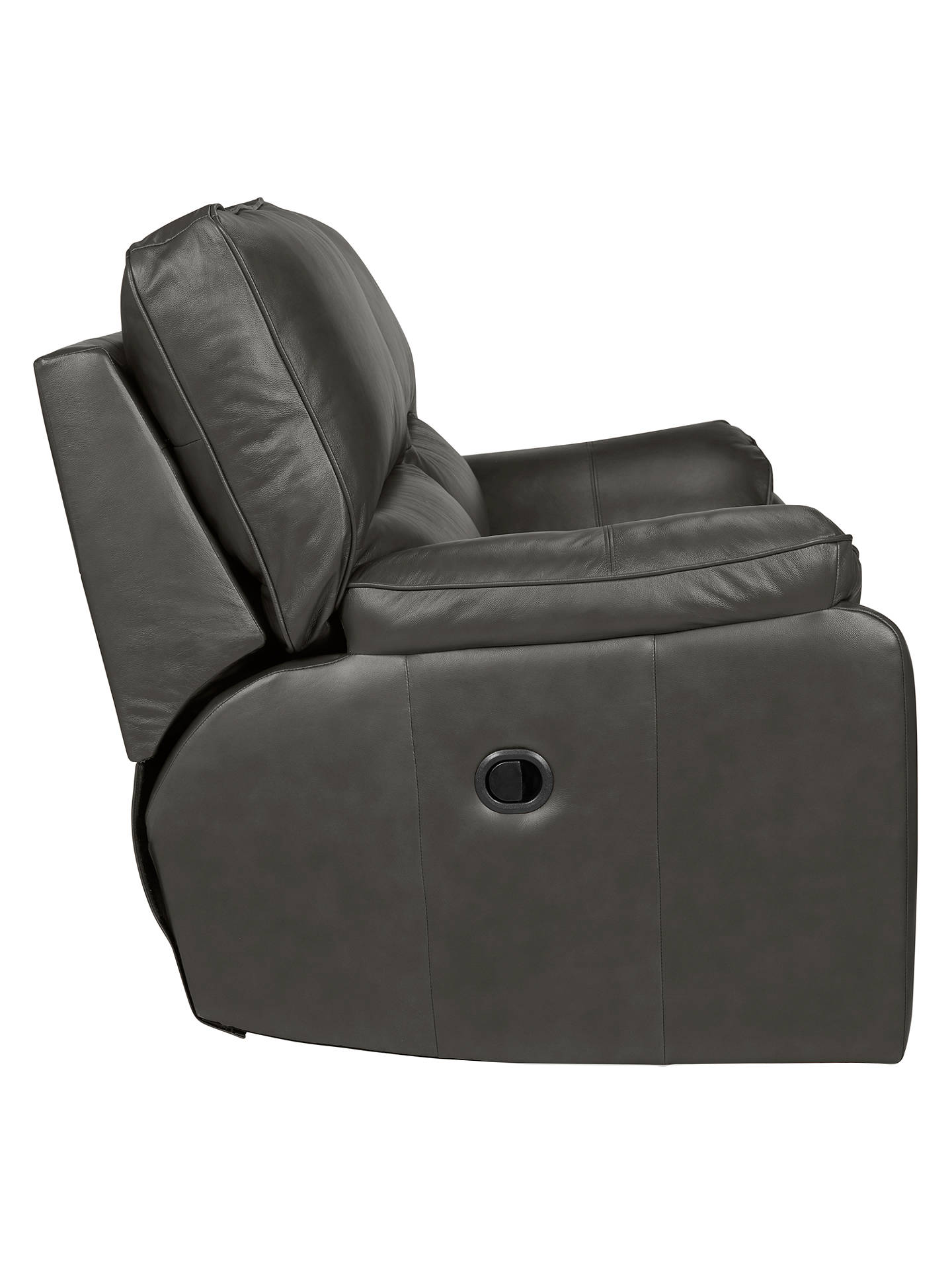 BuyJohn Lewis & Partners Carlisle Leather Manual Recliner Small 2 Seater Sofa, Winchester Anthracite Online at johnlewis.com