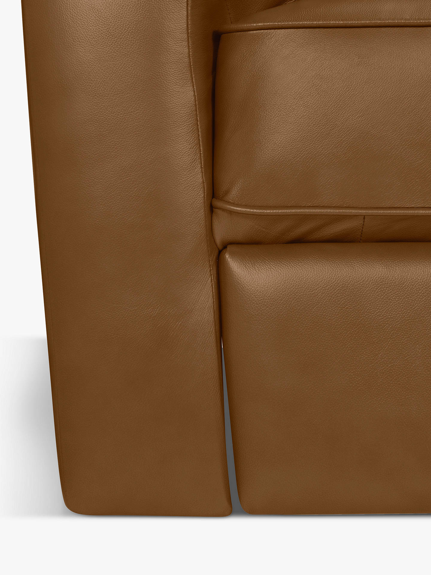 BuyJohn Lewis & Partners Carlisle Leather Power Recliner Small 2 Seater Sofa, Demetra Light Tan Online at johnlewis.com