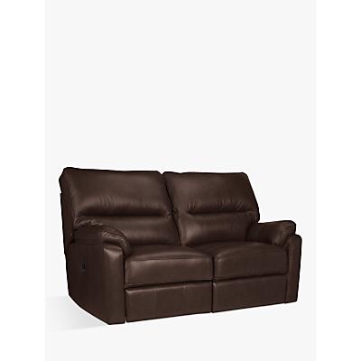 John Lewis Carlisle Leather Power Recliner Small 2 Seater Sofa