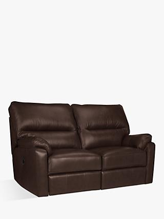 John Lewis & Partners Carlisle Leather Power Recliner Small 2 Seater Sofa