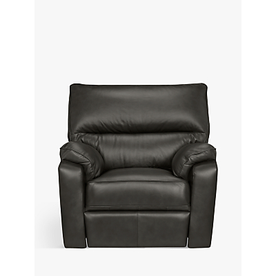 John Lewis Carlisle Leather Manual Recliner Armchair