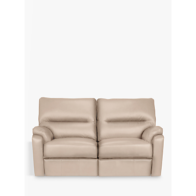 John Lewis & Partners Carlisle Leather Power Recliner Small 2 Seater Sofa