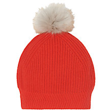 Buy L.K. Bennett Allie Pom Pom Hat, Red Tomato Online at johnlewis.com
