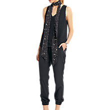 Buy hush Skinny Star Silk Scarf, Black/White Online at johnlewis.com