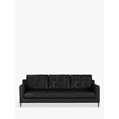 John Lewis & Partners Draper Leather Grand 4 Seater Sofa, Dark Leg